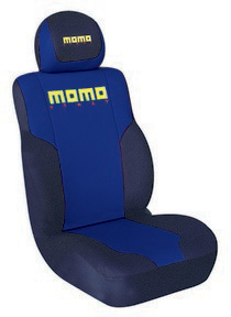 1999-2006 GMC Sierra G International Momo Seat Covers-Low Back 2 Pc Blue/Black/Yellow