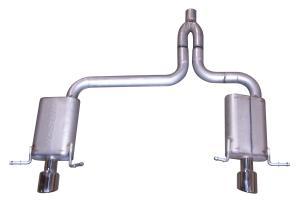 Exhaust Muffler Rear AP Exhaust 700472 fits 04-06 Chrysler Pacifica