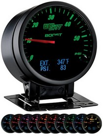 1992-2002 Cadillac Eldorado Glowshift 3-In-1 Black Face Boost and Digital EGT and Pressure Gauge