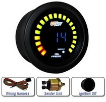 All Cars (Universal), All Jeeps (Universal), All Muscle Cars (Universal), All SUVs (Universal), All Trucks (Universal), All Vans (Universal) Glowshift Blue Digital Boost and Oil Pressure Combo Gauge