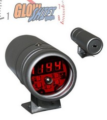 All Cars (Universal), All Jeeps (Universal), All Muscle Cars (Universal), All SUVs (Universal), All Trucks (Universal), All Vans (Universal) Glowshift Silver Digital Tachometer and Red Shift-Light