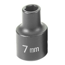"1979-1982 Ford LTD Grey Pneumatic 3/8"" Drive Standard Metric Impact Socket - 7mm"