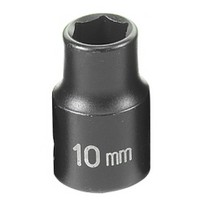 "1991-1996 Saturn Sc Grey Pneumatic 3/8"" Drive Standard Metric Impact Socket - 10mm"