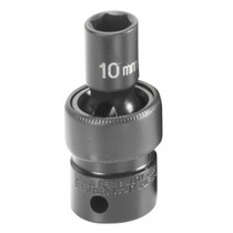 "1991-1996 Saturn Sc Grey Pneumatic 3/8"" Drive Metric Universal Impact Socket "" 10mm"