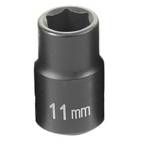 "1968-1976 BMW 2002 Grey Pneumatic 3/8"" Drive Standard Metric Impact Socket - 11mm"