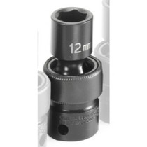"1991-1996 Saturn Sc Grey Pneumatic 3/8"" Drive Metric Universal Impact Socket "" 12mm"