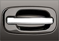 02-06 Chevrolet Avalanche, 02-06 Hummer H2, 99-06 Chevrolet Silverado, 99-06 GMC Sierra Grippin Billet Tailgate Handles - OE Smooth (Brushed Chrome)