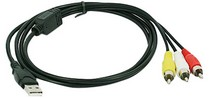 1963-1967 Chevrolet Corvette Gsi  3 RCA to USB Cable