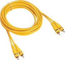 1965-1968 Mercury Colony_Park Gsi 6 ft RCA 2 Channel Spiral Shielded Audio Cable, Gold Plated RCA Connector