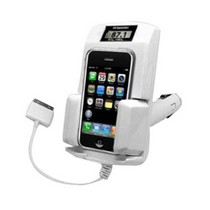 2002-2005 Honda Civic_SI Gsi Apple Ipod 5-in-1 White Fm Transmitter Car Kit with Car Adapter For Ipod 3rd, 4th, 5th Generation, Mini, Photo, U2, Nano 2nd Gen, Video, Classic, Touch Free One A/V Cable For iPod