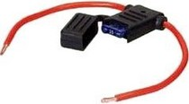 1966-1976 Jensen Interceptor Hitron 8 Gauge Red Power Wire With ATC Fuse Holder