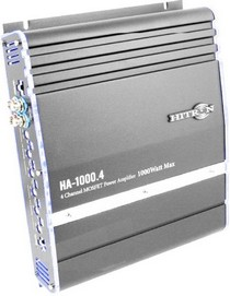 2002-9999 Mazda B-Series Hitron 1000W Max, 2-Channel Amplifier With Bass Remote (Grey)