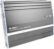 1966-1970 Ford Falcon Hitron 1400W Max, 2-Channel Amplifier With Bass Remote (Grey)