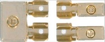 1987-1990 Mercury Capri Hitron Gold Plated Agu Fuse Distribution Block: One 4 Gauge Input To Two 8 Gauge Outputs
