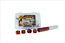 All Vehicles (Universal) Hose Candy Single Car Kit (4 to 8 Hoses) in case with Black Sidewinders and Black Heat Shrink