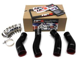 1990-1996 Nissan 300ZX Twin Turbo HPS Black Silicone Intercooler Turbo Hose Kit - Black
