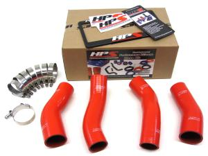 1990-1996 Nissan 300ZX Twin Turbo HPS Red Silicone Intercooler Turbo Hose Kit - Red