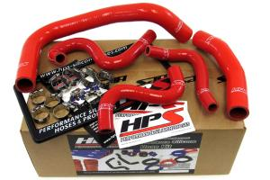 1985-1987 Toyota Corolla AE86 4A-GEU Left Hand Drive HPS Red AE86 Silicone Radiator + Heater Hose Kit Coolant - Red