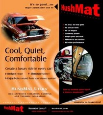 "2008-9999 Mini Clubman HushMat 12""x12"" Ultra Insulating/Damping Material Door Kit - 10 Piece (Black Foil)"