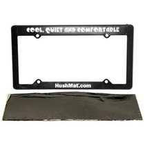 "1998-9999 Ford Contour Hushmat 4""x12"" License Plate Kit with License Plate Frame Included"