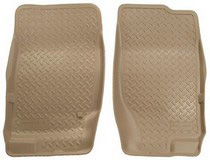 2002-2009 Ford Explorer 4DR Automatic Transmission Only, 2003-2005 Lincoln Aviator, Mercury Moutaineer 4DR Automatic Transmission Only Husky Classic Style Front Seat Floor Liners – Tan