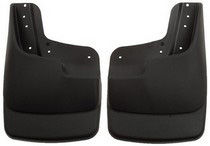 1999-2007 Ford F250, 1999-2007 Ford F350, 2008-2009 Ford F250, 2008-2009 Ford F350 Husky Custom Molded Front Mud Guards – Black