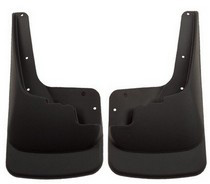 2008-2009 Ford F250 (With Out Fender Flares), 2008-2009 Ford F350 (With Out Fender Flares) Husky Custom Molded Front Mud Guards – Black (With Out Fender Flares)