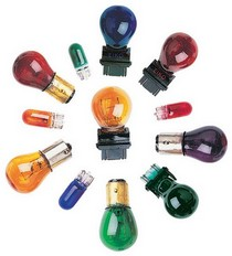 1967-1969 Chevrolet Camaro In Pro Car Wear 194 Mini Waffle Mount Colored Bulb - Amber - Pair
