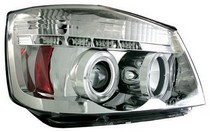 04-07 Nissan Armada, 04-07 Nissan Titan In Pro Car Wear Head Lamps, Projector - Chrome Housing / Clear Projector