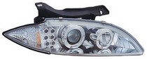 95-99 Chevrolet Cavalier In Pro Car Wear Head Lamps, Projector W/ Rings & Corners - Chrome Housing / Clear Projector