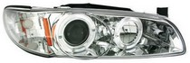 97-03 Pontiac Grand Prix In Pro Car Wear Head Lamps, Projector - Chrome Housing / Clear Projector