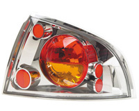 00-03 Nissan Sentra In Pro Car Wear Tail Lights - Crystal Clear w/ Amber Lenses