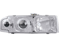 1995-2005 Chevy Astro Van GMC Safari Chrome Headlights Head Lamps 1 Pair