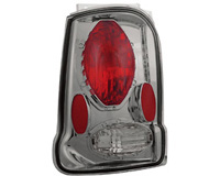 2002-2005 Ford Explorer In Pro Car Wear Tail Lights - Platinum Smoke