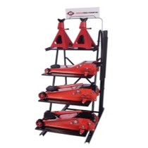 1980-1983 Honda Civic Intermarket Professional Duty Floor Jack Display With 2 of each of the 2 Ton, 3-1/2 Ton Single Pump and 3-1/2 Ton Double Pump Floor Jacks