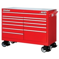 "1991-1994 Mazda Navajo International Tool Box 54"" Wide Super Heavy Duty Cabinet - Red"