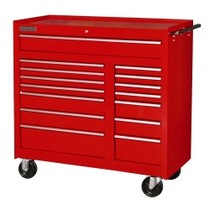 1965-1968 Mercury Colony_Park International Tool Box 15 Drawer Mobile Work Cabinet