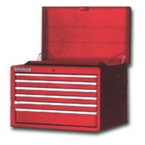 1965-1968 Mercury Colony_Park International Tool Box 6-Drawer Red Super Pro 27x19-Inc.h Series Top Chest