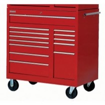 "1960-1961 Dodge Dart International Tool Box 42"" 13 Drawer Roller Cabinet"
