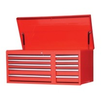 "2007-9999 Jeep Patriot International Tool Box 42"" 10 Drawer Chest With Roller Bearing Slides - Red"