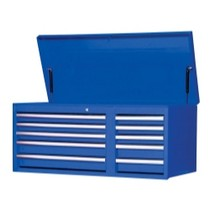 "2007-9999 Jeep Patriot International Tool Box 42"" 10 Drawer Chest With Roller Bearing Slides - Blue"