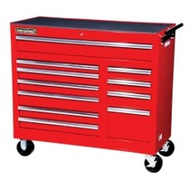 "2007-9999 Jeep Patriot International Tool Box 42"" 11 Drawer Cabinet With Roller Bearing Slides - Red"