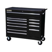 "2007-9999 Jeep Patriot International Tool Box 42"" 11 Drawer Cabinet With Roller Bearing Slides - Black"