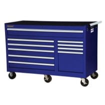"2007-9999 Jeep Patriot International Tool Box 56"" x 24"" 10 Drawer Cabinet - Blue"