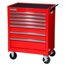 "2007-9999 Jeep Patriot International Tool Box 27"" 7 Drawer Starter Cabinet - Red"