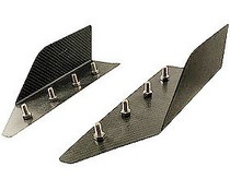 "1953-1957 Chevrolet Two-Ten JSP Wind Splitters - Carbon Fiber Front Splitters (7"" x 21"")"