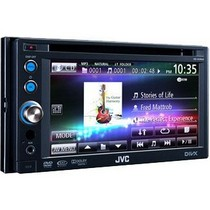 1966-1971 Jeep Jeepster_Commando JVC Double DIN DVD / CD / USB Receiver with Proximity Sensor and 6.1 Inch Widescreen Touch Panel Monitor