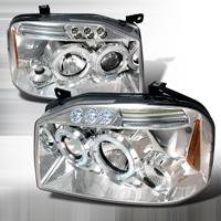 01-04 Nissan Frontier JY Halo Projector Headlights - Chrome