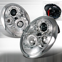 2002-2006 Mini Cooper JY Projector Headlights - Chrome