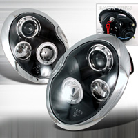 2002-2006 Mini Cooper JY Projector Headlights - Black